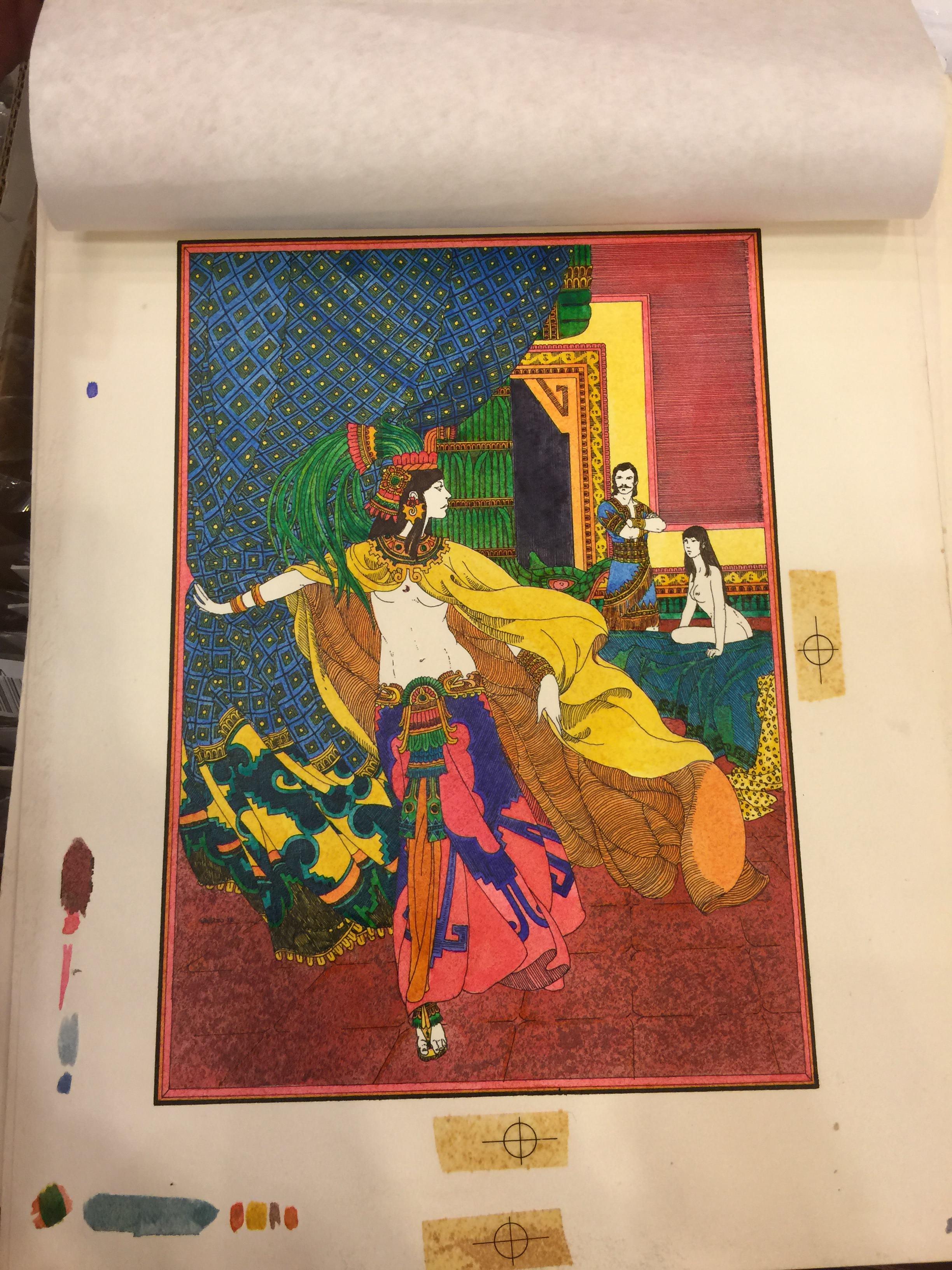 Original illustration for Conan the Barbarian book by Robert E. Howard